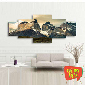 Mountains - Set Of 5 - Wall Hangings