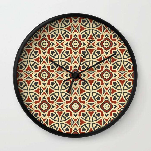 Abstract Geometric Pattern 36 - Wall Clock - Custom Freaks