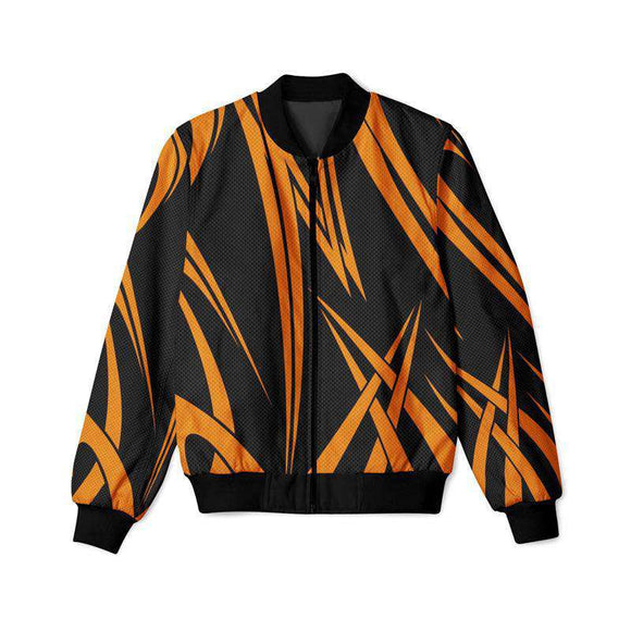Orange Stripes - Bomber Jacket