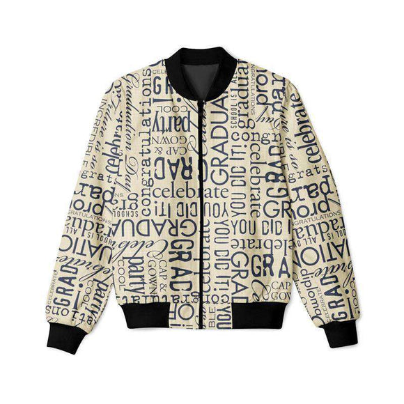 Grunge Text - Bomber Jacket
