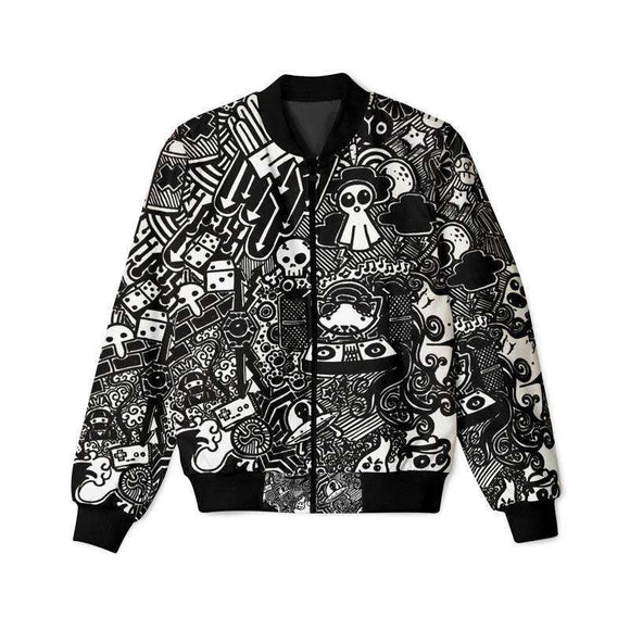 Black Doodles - Bomber Jacket