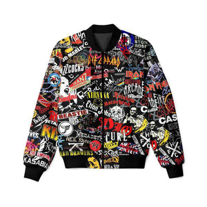 Funky Musical Pattern - Bomber Jacket