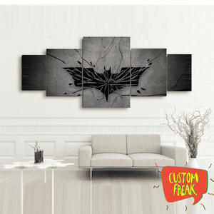 Batman Logo - Set Of 5 - Wall Hangings