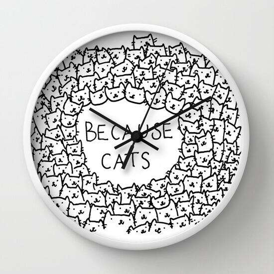 Because Cats - Wall Clock