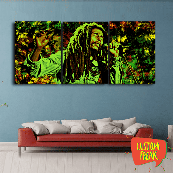 Bob Marley Aur Hum Na Marain - Set Of 3 - Wall Hangings