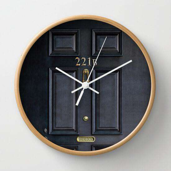 Sherlock Door - Wall Clock