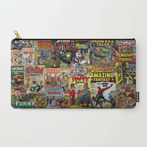Comic Book Cover Collage - Zipper Pouch