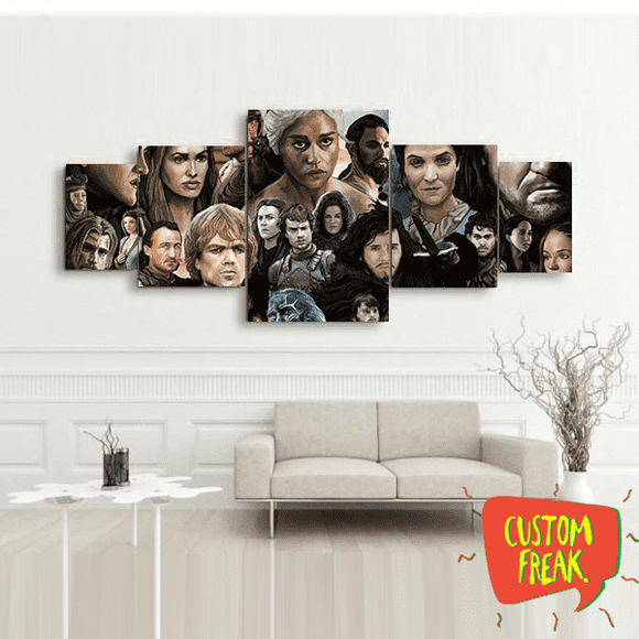 Game Of Thrones Cast - Set Of 5 - Wall Hangings