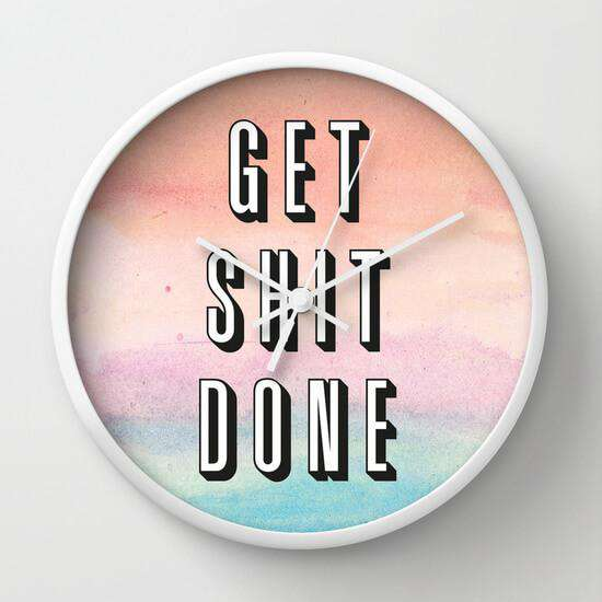 Get Shit Done - Wall Clock