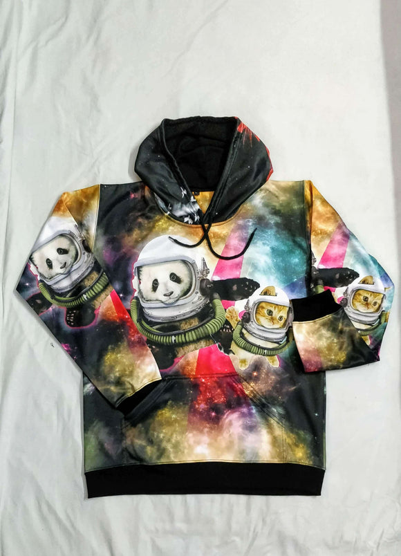 Panda And Cat All Over Hoodie & Sweatshirt