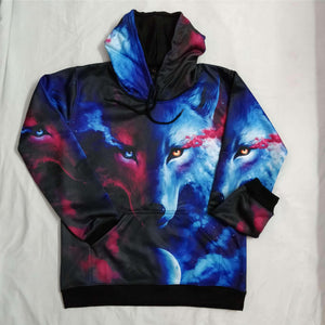 Wolf All Over Hoodie & Sweatshirt