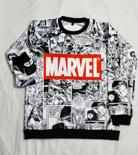 Marvel All Over Hoodie & Sweatshirt