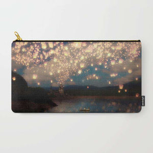 Love Wish Lanterns - Zipper Pouch