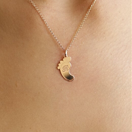 Footprint Engrave - Necklace