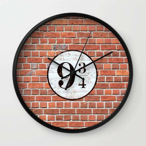 Platform Nine And Three-Quarters - Harry Potter - Wall Clock