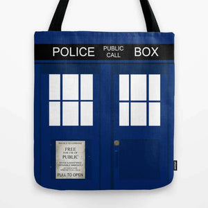 Police Phone Box Tardis - Tote Bag