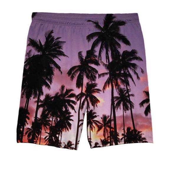 Beach - All Over Printed Shorts