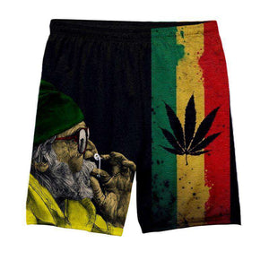 Jamaica Weed - All Over Printed Shorts