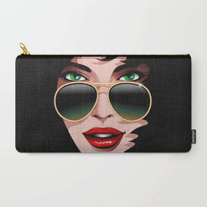 Seduction Woman Beauty Portrait - Zipper Pouch
