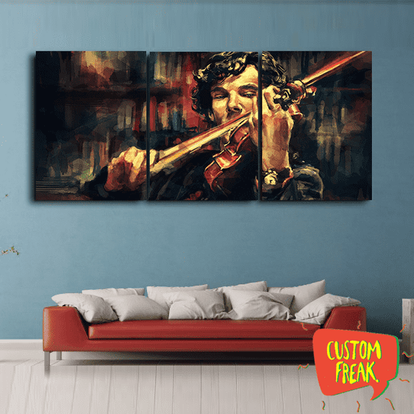 Sherlock Painting - Set Of 3 - Wall Hangings