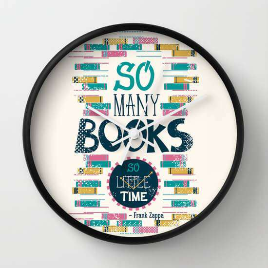 So Many Books So Little Time - Wall Clock