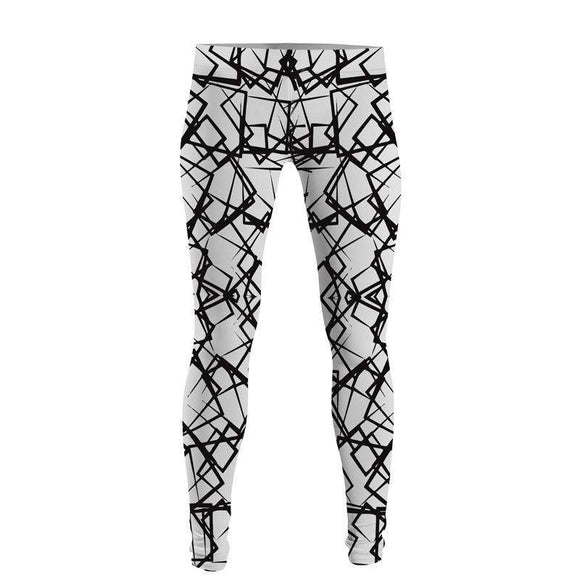 Black And White Lines - Leggings