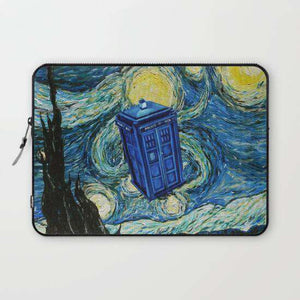 Laptop And Tablet Sleeves Tardis Dr. Who Starry Night