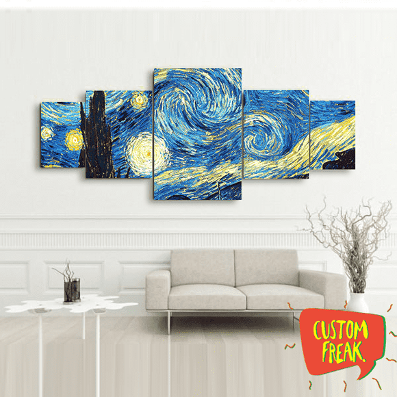 Van Gogh Painting - Set Of 5 - Wall Hangings
