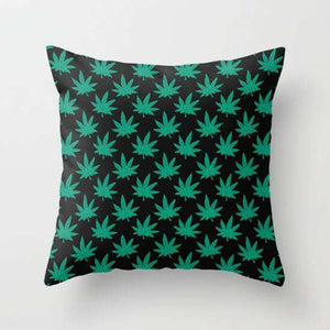 Weed Pattern Cushion