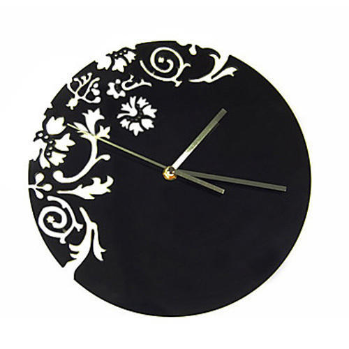 Floral Abstract - Acrylic Clock
