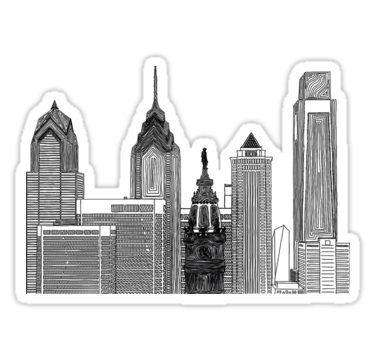 Skylines - Cutout Sticker
