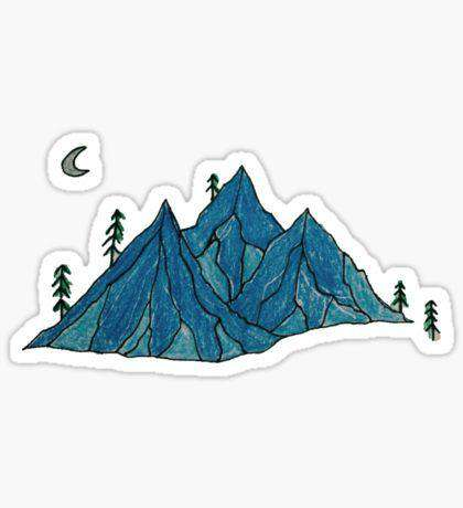 Mountains - Cutout Sticker