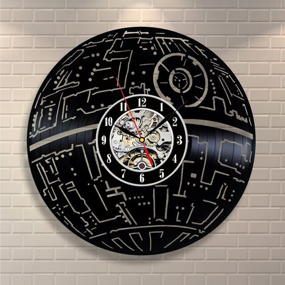 Death Star - Acrylic Clock