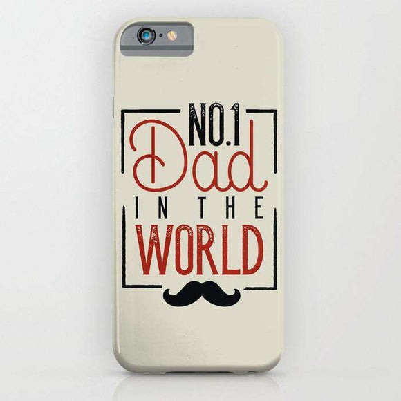 No 1 Dad In The World - Fathers Day - Cell Cover - Cell Cover