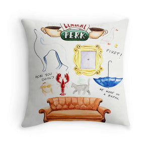 Friends Collage Cushion