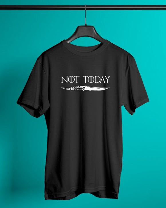 Not today - Arya Stark - Game Of Thrones - Graphic Printed T-Shirts