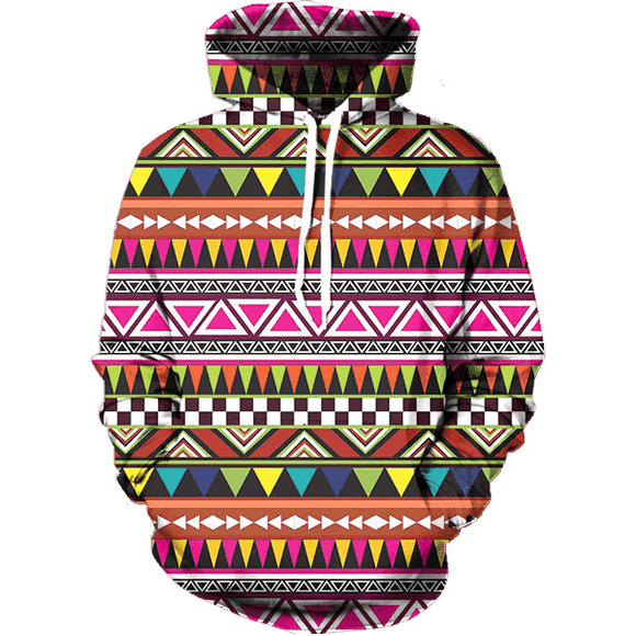 Pattern All Over Hoodie & Sweatshirt