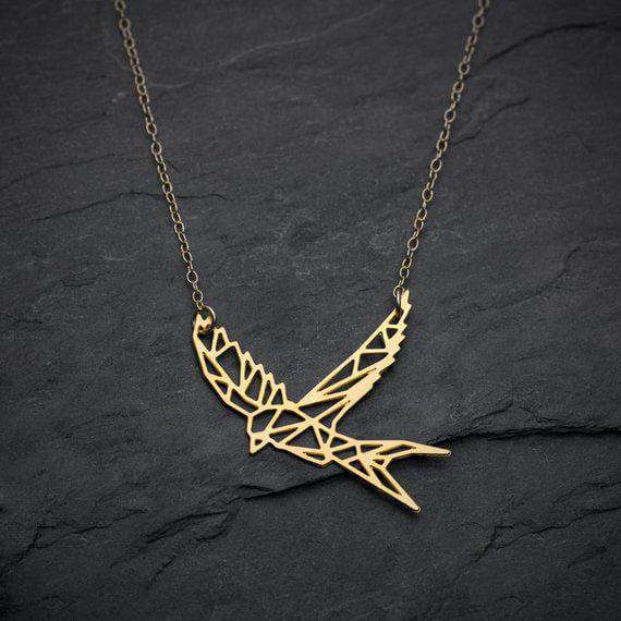 Bird Fly Necklace