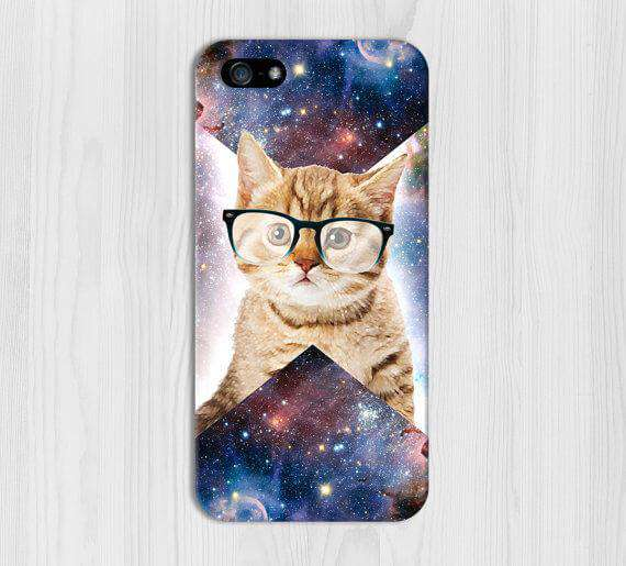 Cat Printed Cell Cover - Cell Cover