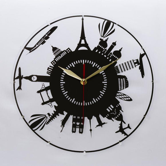 London Paris New York - Acrylic Clock