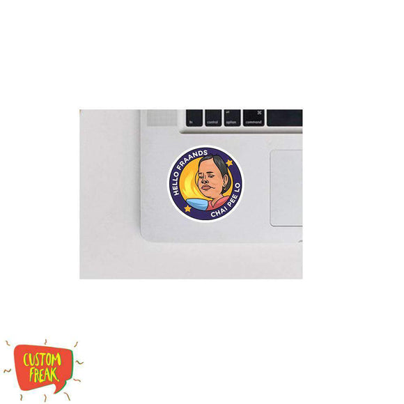 Hello Friends Chai Peelo - Cutout Sticker