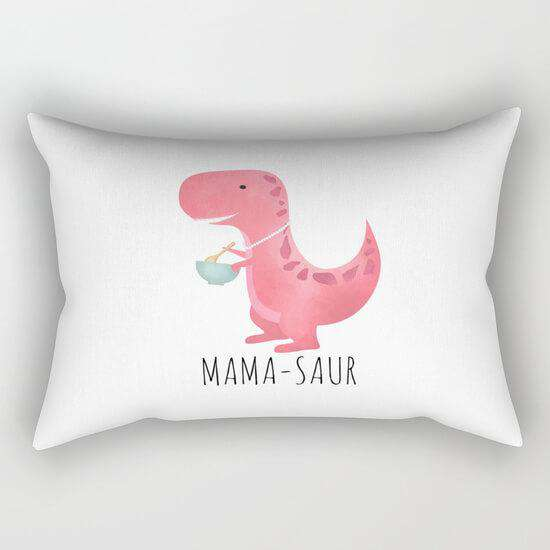 Mama Saur Pillow Cover