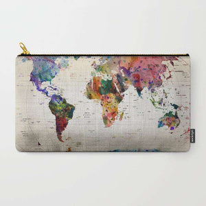 World Map - Zipper Pouch