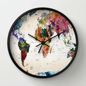 World Map - Wall Clock