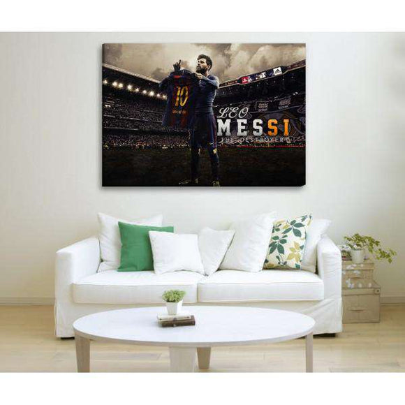 Messi - Barcelona - Wall Hangings