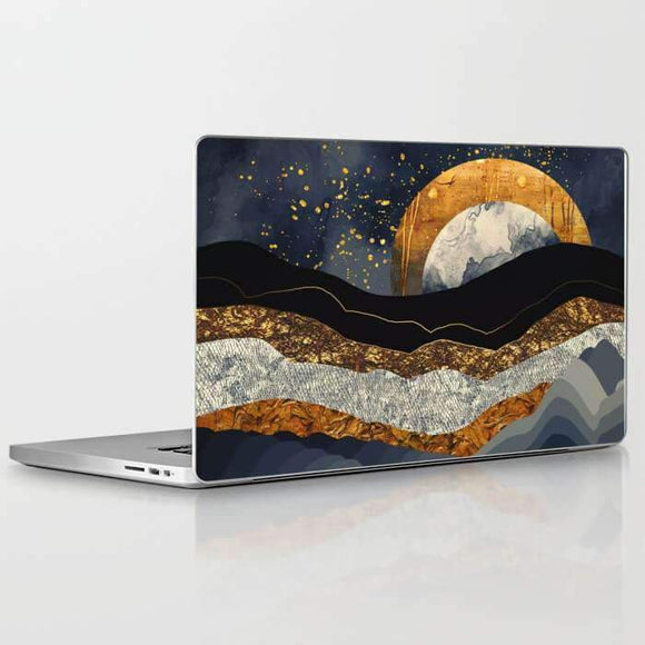 Laptop Skin Metalic Mountains