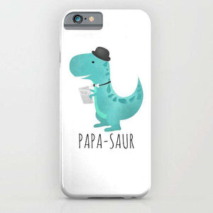 Papasaur - Fathers Day - Cell Cover - Cell Cover