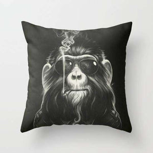 Smoking Monkey Cushion