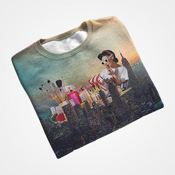 Wakeup And Makeup - All Over Printed T-Shirts