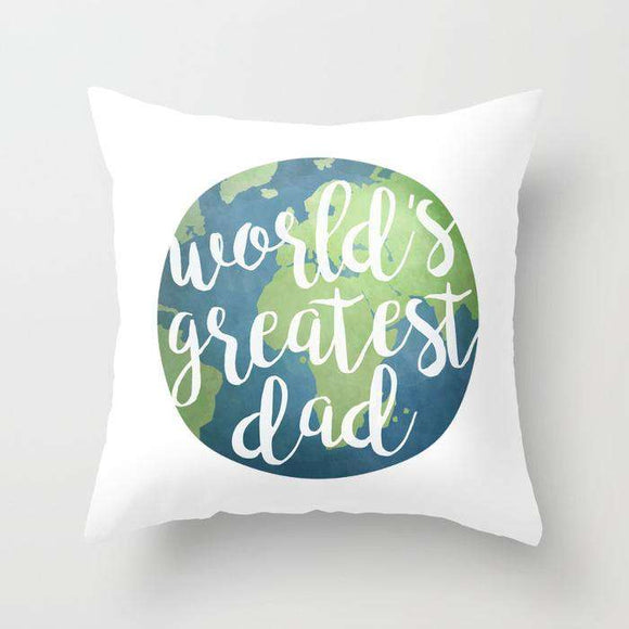 Worlds Best Dad - Fathers Day - Cushion